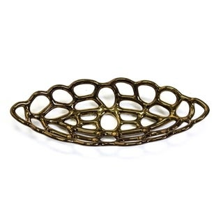 Ceramic Oval Decorative Tray, Bronze