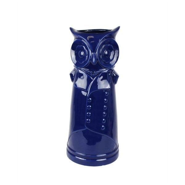 Bewildering Ceramic Owl Umbrella Stand Blue Free Shipping Today 18522801