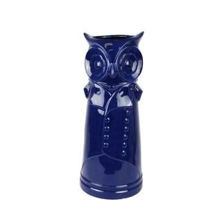 Bewildering Ceramic Owl Umbrella Stand, Blue