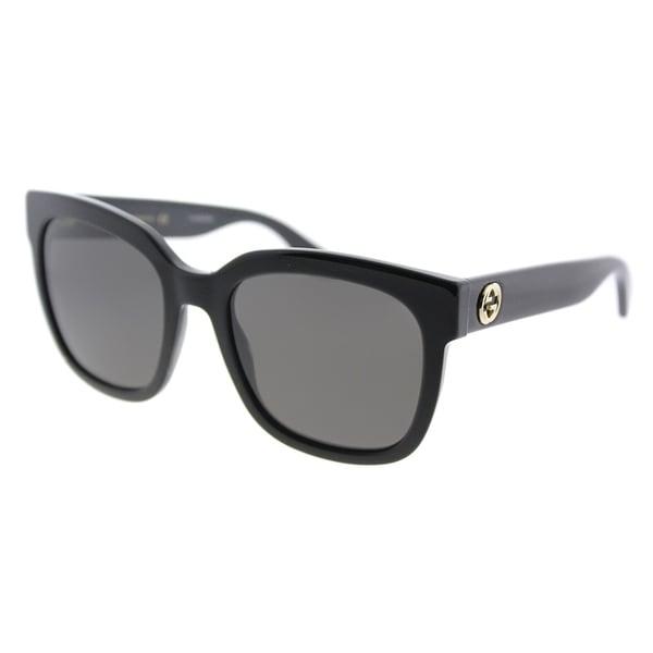 a74257f16e Gucci Fashion GG 0034S 001 Women Black Frame Grey Lens Sunglasses
