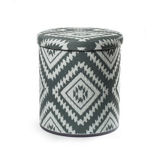 Fab Habitat Handmade Outdoor Storage Pouf - Valencia - Gray|https://ak1.ostkcdn.com/images/products/18522984/P24632225.jpg?impolicy=medium