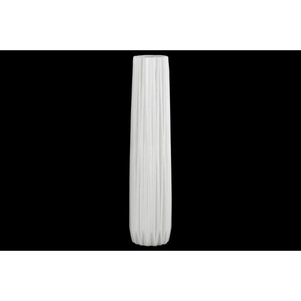 Shop Elongated Large Pillar Vase White Free Shipping Today