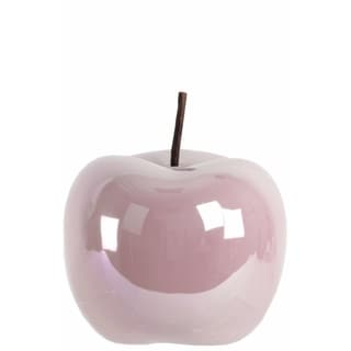 Ceramic Apple Figurine- Large- Pink
