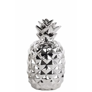 Lustrous Pineapple Figurine- Small- Silver