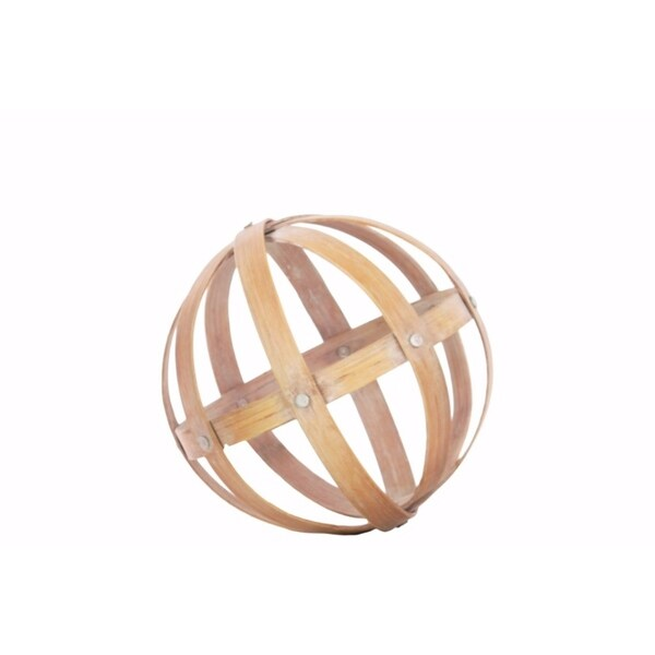 Bamboo Orb Dyson Sphere Design - Medium - Brown