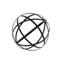 Metal Orb Dyson Sphere Design Decor (5 Circles) Coated Finish Black