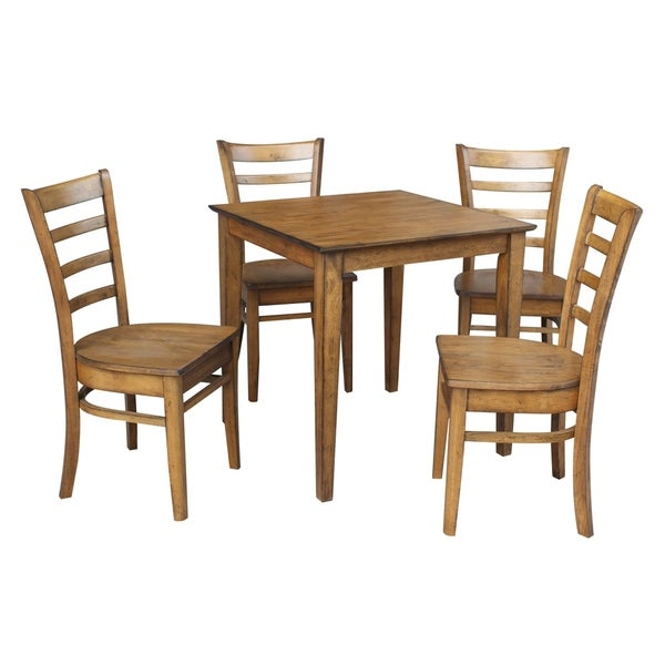 """Pecan Wood Furniture Dining Room: Shop International Concepts 30"""" X 30"""" Dining Table With 4"""