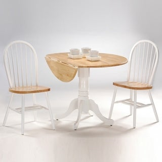 "International Concepts 42"" Drop Leaf Table with 2 Chairs - Set of 3"