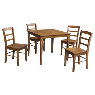 "International Concepts 36"" x 36"" Dining table with 4 Madrid Chairs - Set of 5"