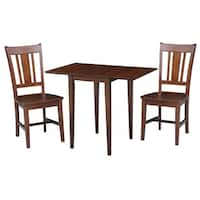 International Concepts Small Dual Drop Leaf Table with 2 Chairs