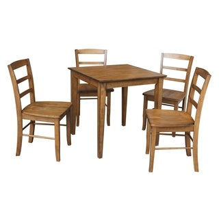 "International Concepts 30"" x 30"" Dining table with 4 Madrid Chairs - Set of 5"