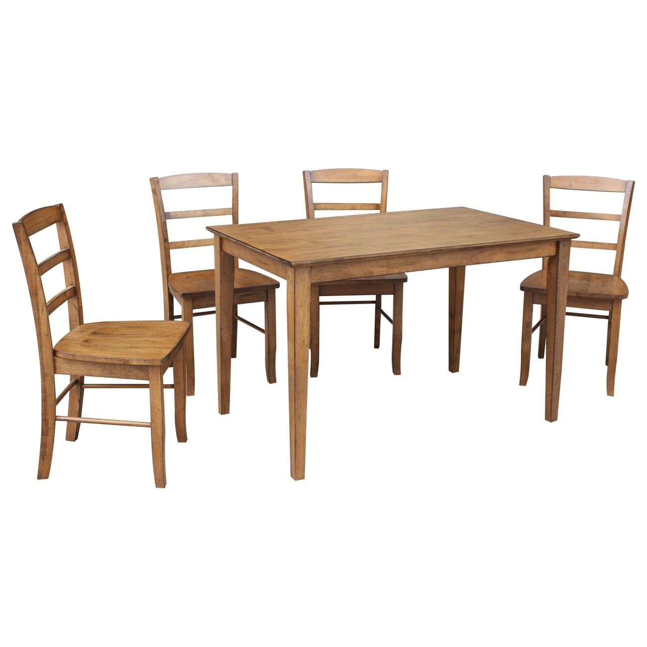 International Concepts 30 X 48 Dining Table With 4 Madrid Chairs Set Of 5 Overstock 18525001