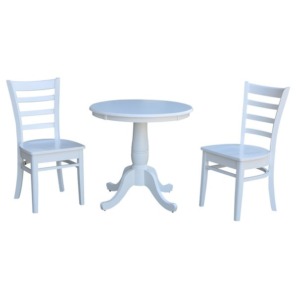 Shop International Concepts 30 Round Top Pedestal Table With 2