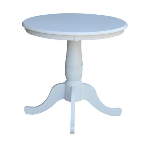 "International Concepts 30"" Round Top Pedestal Table - 28.9"" H"