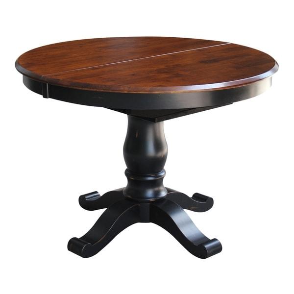 Shop Copper Grove Jefferson 42 Inch Espresso Ebony Round Pedestal