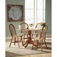 """International Concepts 42"""" Dual Drop Leaf Table with 4 Windsor Chairs"""