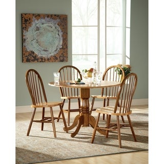 "International Concepts 42"" Dual Drop Leaf Table with 4 Windsor Chairs"