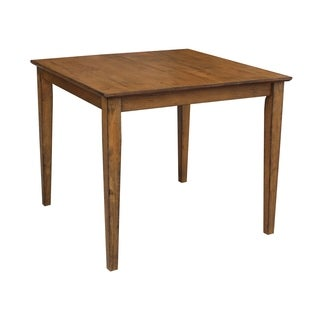 The Gray Barn Cattail Abode Pecan Solid Wood Top 36-inch X 36-inch Table With Shaker Legs