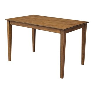 The Gray Barn Cattail Abode Pecan Solid Wood Top 30-inch X 48-inch Table With Shaker Legs