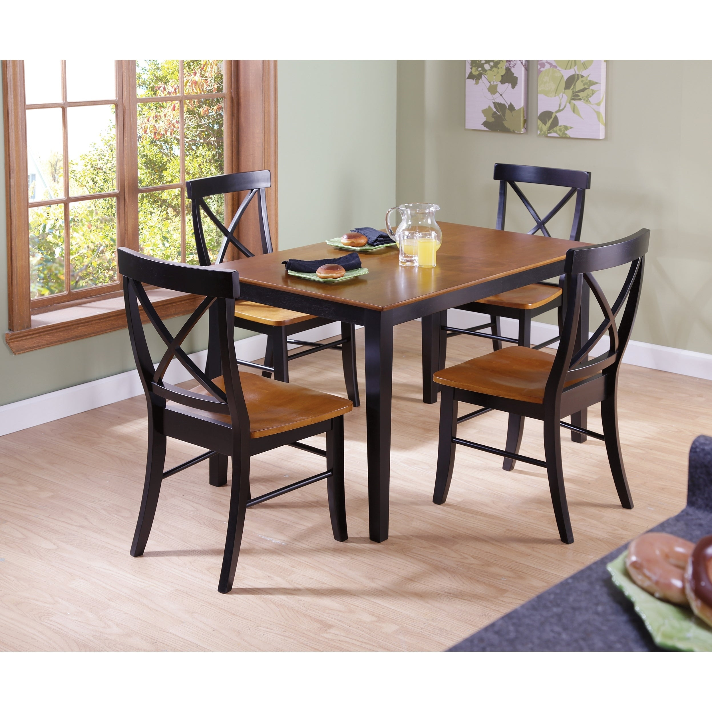 Prime International Concepts 30 X 48 Dining Table With 4 X Back Chairs Set Of 5 Andrewgaddart Wooden Chair Designs For Living Room Andrewgaddartcom