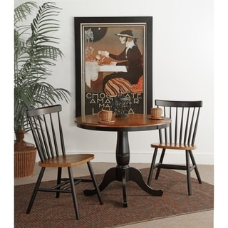"International Concepts 36"" Table with 2 Copenhagen Chairs - Set of 3"