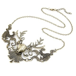 Orchid Jewelry Zinc Alloy Vintage Statement Necklace - YELLOW