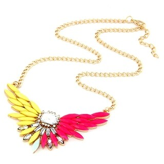 Orchid Jewelry Fashion Wings Statement Necklace