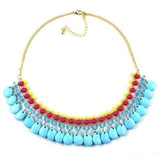 Orchid Jewelry Fashion Statement Bib Necklace