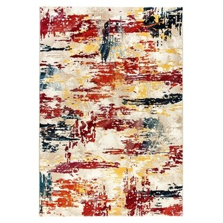 Pheonix Distressed Contemporary Multi Area Rug - 3.11x5.3