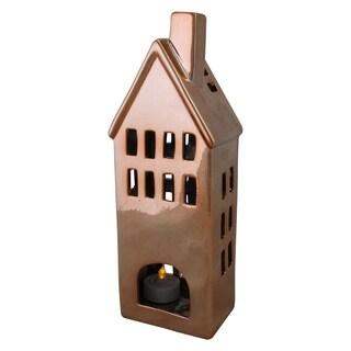 "10.5"" Ceramic House Tea Light Candle Holder"