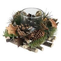 "4"" Stars&Ornaments Christmas Votive Candle Holder"