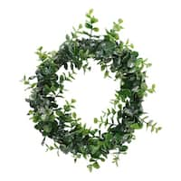 "8.75"" Sparkling Grass Decorative Christmas Wreath"