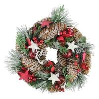 "10"" Decorative Pine Christmas Wreath - Unlit"