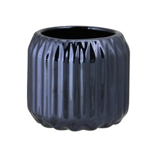 "2.75"" Metallic Ceramic Tea Light Candle Holder"