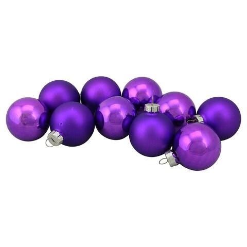 "10-Piece Glass Ball Christmas Ornament Set 1.5"""