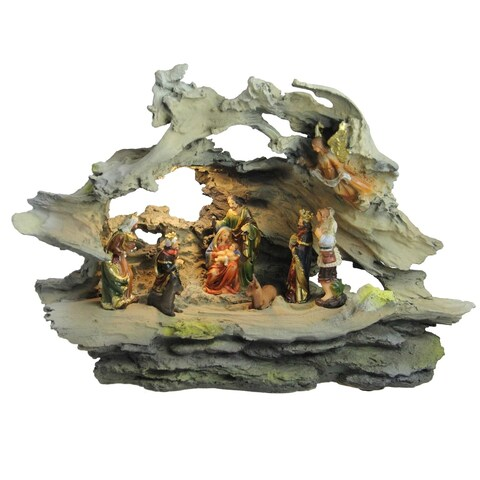 "16"" Religious Nativity Scene Christmas Decoration"