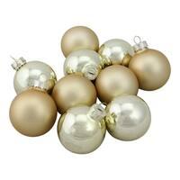 "10-Piece Glass Ball Christmas Ornament Set 1.75"""