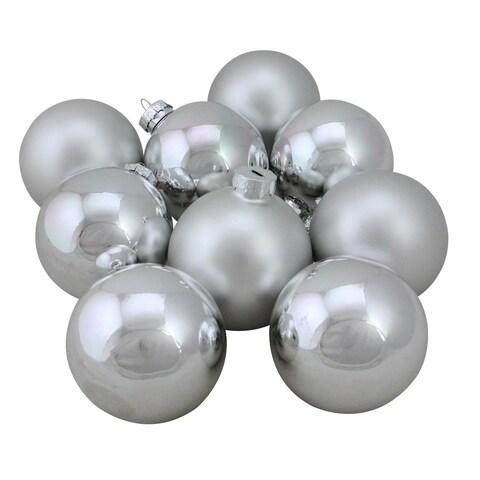 "9-Piece Glass Ball Christmas Ornament Set 2.5"""