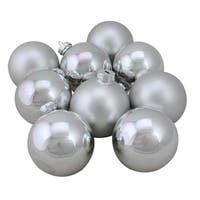 9-Piece Glass Ball Christmas Ornament Set 2.5""