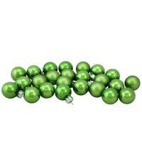"""Green Glass Ball Christmas Ornament Set 1"""""""