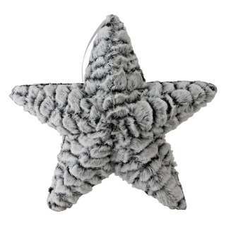 "9.5"" Winter's Beauty Plush Star Christmas Ornament"