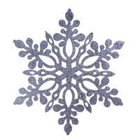 "9.75"" Navy Blue Snowflake Christmas Ornament"