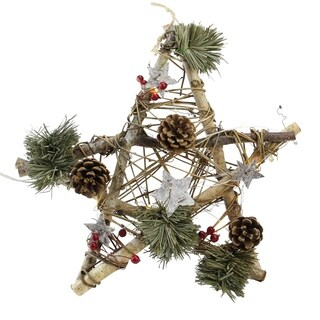 Star with Pine Cones Christmas Ornament - 32627505