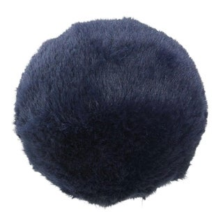 "4.5"" Faux Fur Ball Christmas Ornament Decoration"