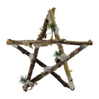 Wooden Branch Star Shaped Christmas Ornament