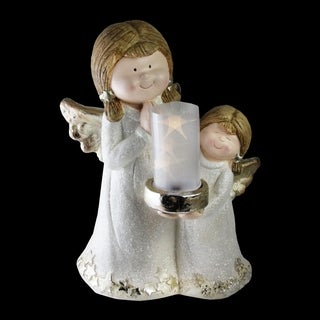 "16"" Two Angels Lantern Christmas Decoration"