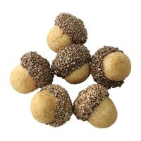 Christmas Gold Topped Acorn Decorations 1.5""