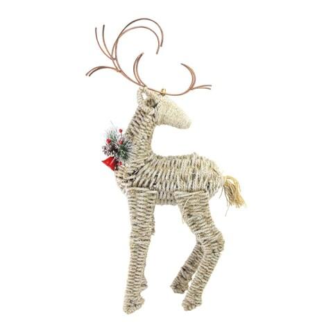 Reindeer Facing Backwards Twine Christmas Figure