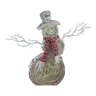 "19.5"" ""Welcome"" Snowman Christmas Decoration"