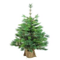 "36"" Artificial Christmas Tree in Burlap Base - N/A"